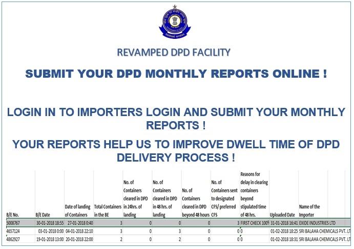 Customs DPD Portal